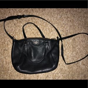small crossbody black Coach purse